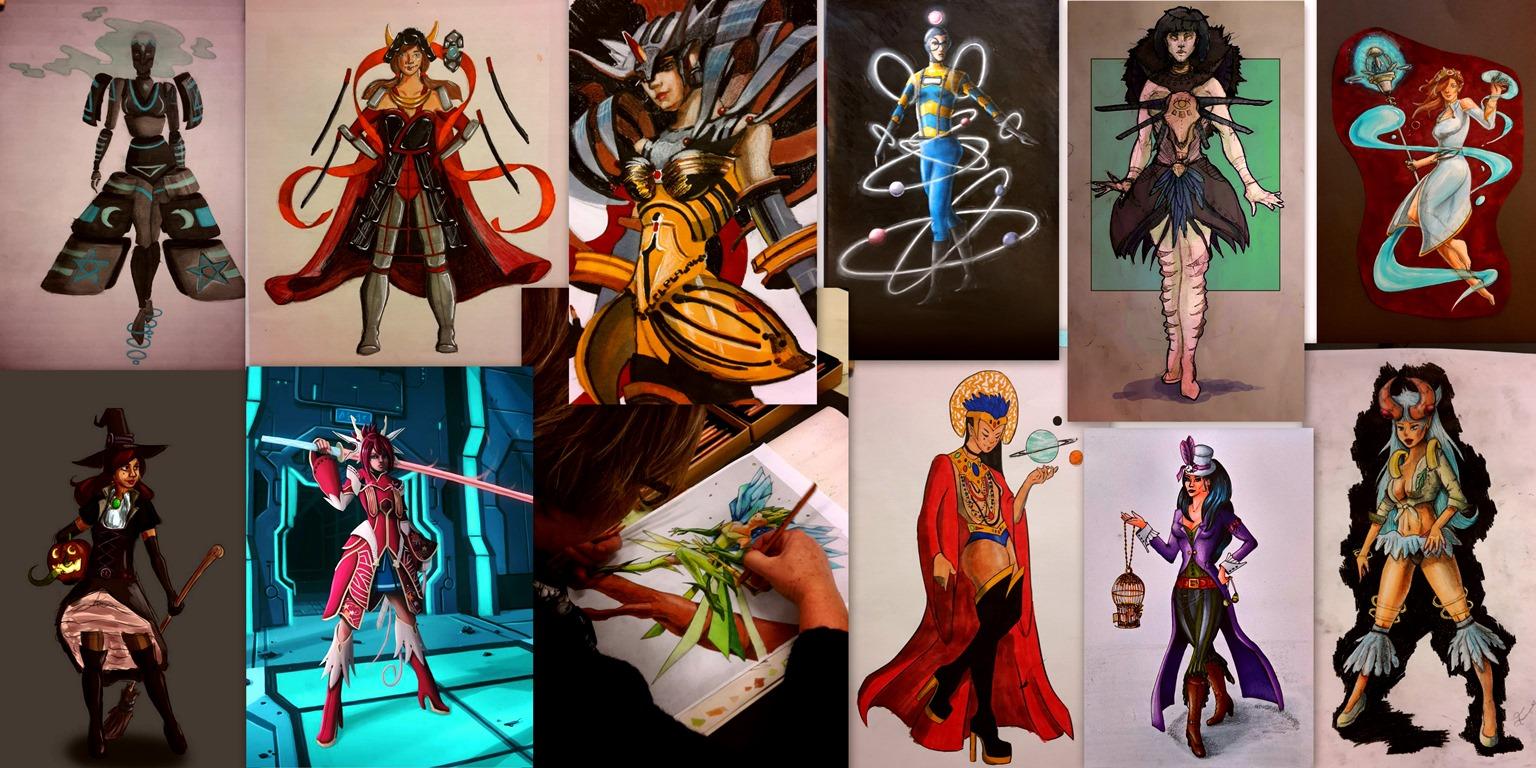 Character Design Opleiding : Tekenlessen voor iedereen game art en klassiek tekenen